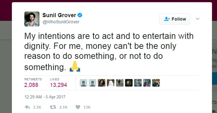 Sunil Grover Twiter