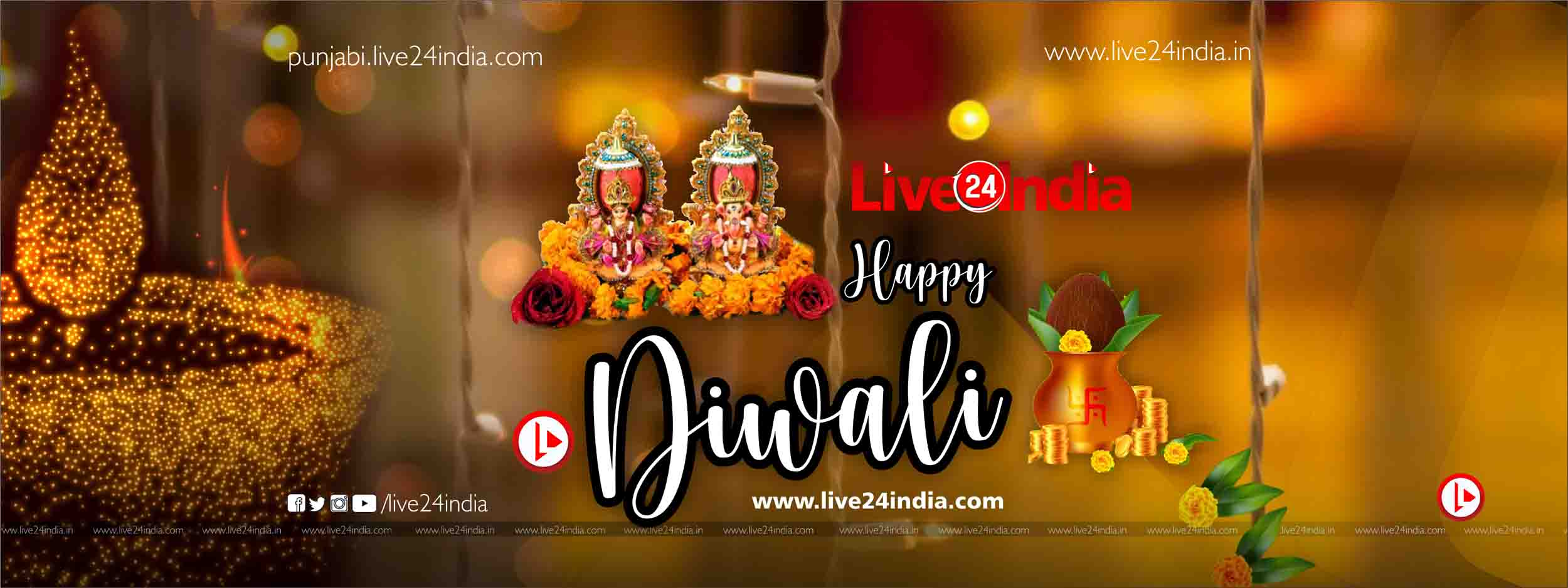 Diwali Wishes Images, Dipawali Massages WhatsAPP, SMS, Facebook Cover Diwali #Diwaliwithlive24india